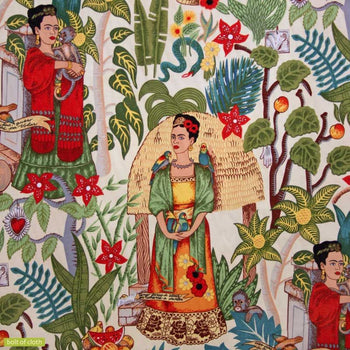 Frida's Garden Fabric in tea