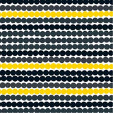 Rasymatto Coated Fabric in Black and Yellow