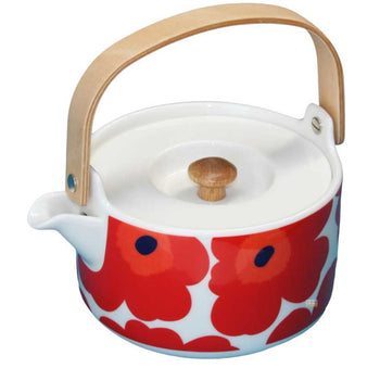 Marimekko Teapot in Unikko in Pink and Red 7dl