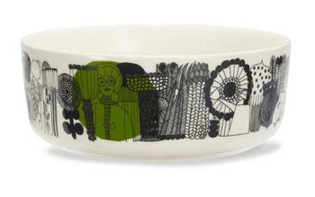 Siirtolapuutarha Bowl in black/white 1.5L by Marimekko