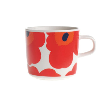 Unikko Coffee Cup 2DL in white, red