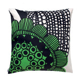Siirtolapuutarha Cushion Cover in Green 50cm