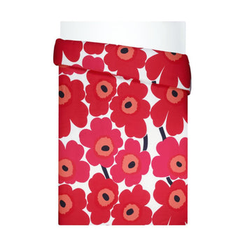 Unikko Duvet Cover 240x220cm in white, red