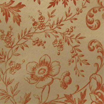 Okarito Circa 1900 Wallpaper in Tan Orange