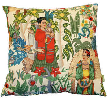 Frida's Garden Cushion Cover in tea 45cm