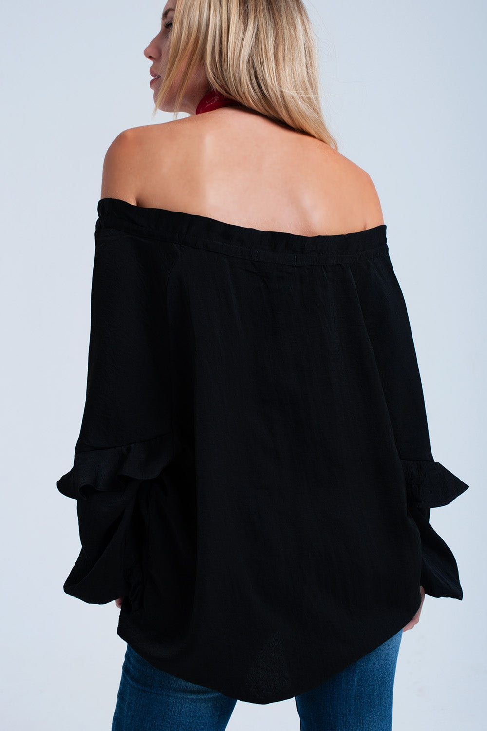Flowing Off Shoulder Blouse
