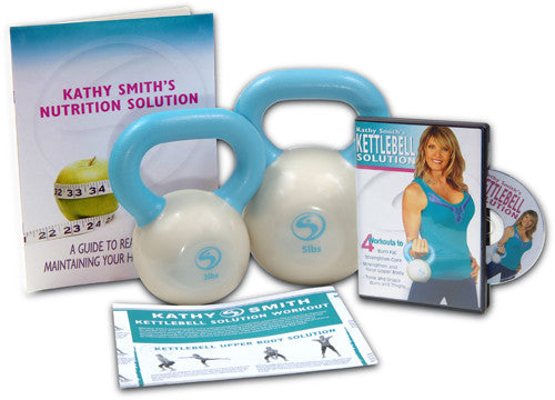 Kettlebell Solution Kit (One 3-Lb Kettlebell, One 5-Lb Kettlebell, Kettlebell Solution DVD) - FREE SHIPPING