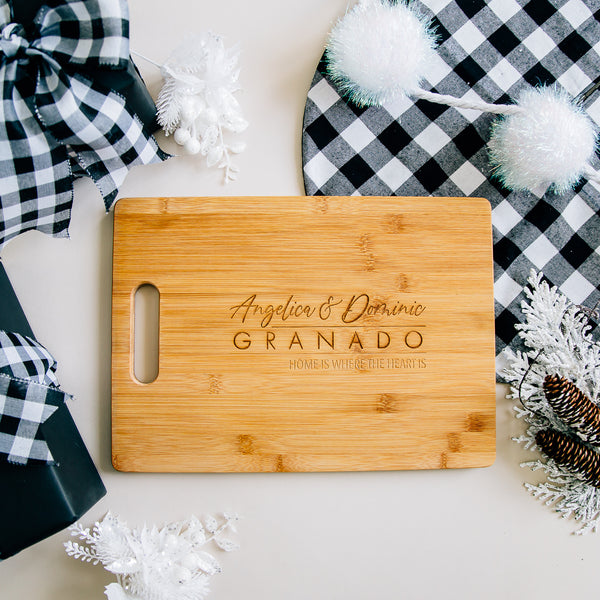 Dreamer Personalized Rectangle Bamboo Cutting Board