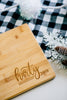 Custom Engraved Last Name Rectangle Bamboo Cutting Board