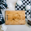 Floral Geometric Custom Engraved Rectangle Bamboo Cutting Board