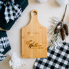 Mr and Mrs Personalized Engraved Paddle Bamboo Cutting Board
