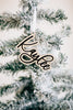 Custom First Name Christmas Ornament Tag '20, Acrylic or Wood