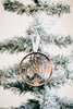 Joyful Round Custom Christmas Ornament '19, Acrylic or Wood