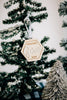 Darling Hexagon Custom Christmas Ornament '19, Acrylic or Wood