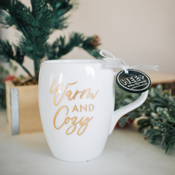 Warm & Cozy Holiday Engraved Mug, Porcelain
