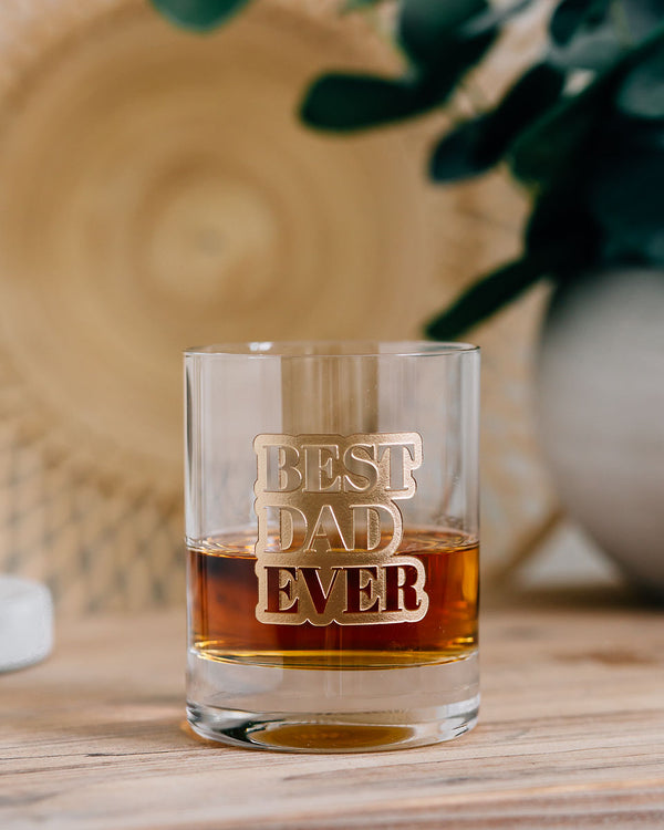 Best Dad Ever Engraved Lenox Whiskey Glass