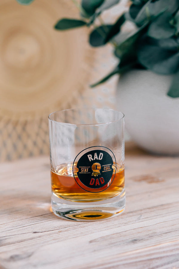 Rad Dad Engraved Lenox Whiskey Glass