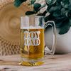 Boy Dad Engraved Beer Mug with Handle, 25oz