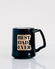Best Dad Ever Coffee Mug, Engraved Porcelain - Black