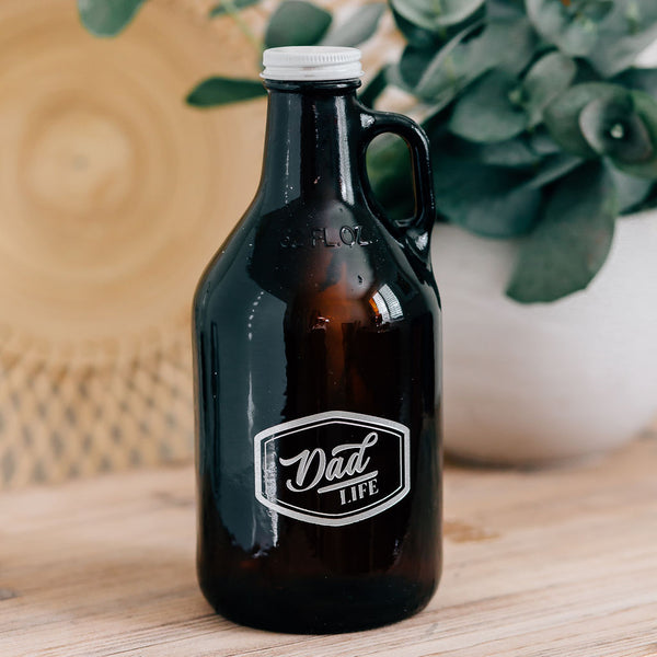 Dad Life Engraved Beer Growler, 32oz