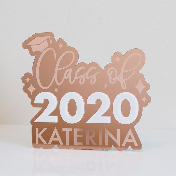 "11"" Custom Class of 2020 Graduation Name Sign, Wood or Acrylic"