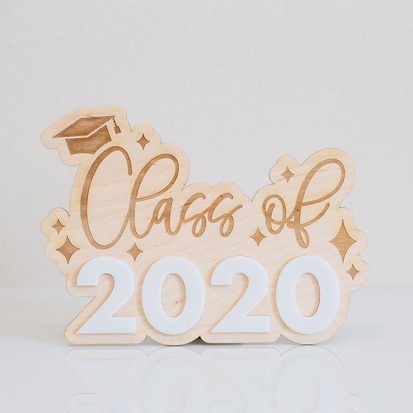 "11"" Class of 2020 Graduation Sign, Wood or Acrylic"