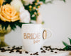 Set of 7 - Personalized Bridesmaid Coffee Mug, Engraved White Porcelain