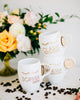 Set of 5 - Personalized Bridesmaid Coffee Mug, Engraved White Porcelain