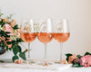 Set of 3 - Custom Bridal Party Wine Glass