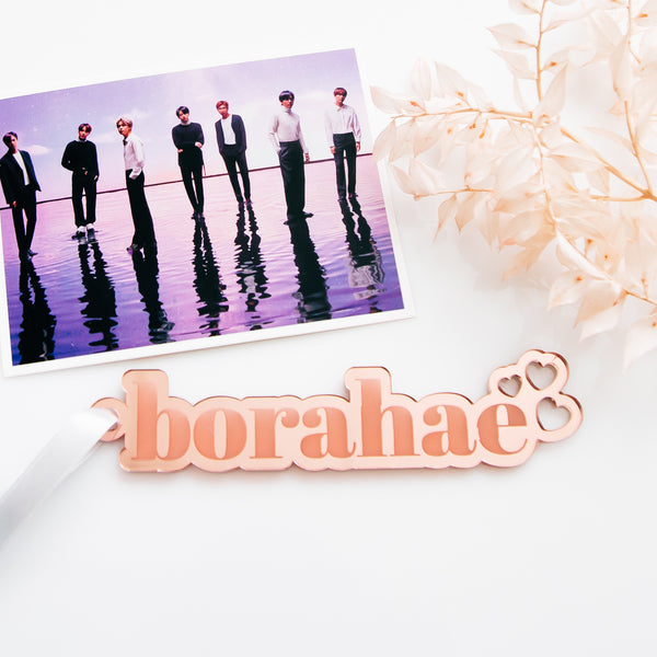 Borahae BTS Army Christmas Ornament, Acrylic