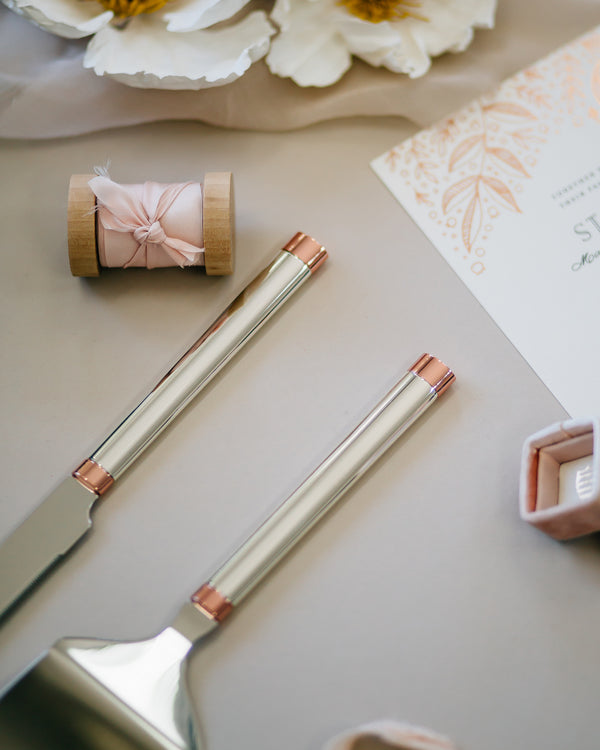 Kate Spade Rosy Glow Cake Knife & Server Set