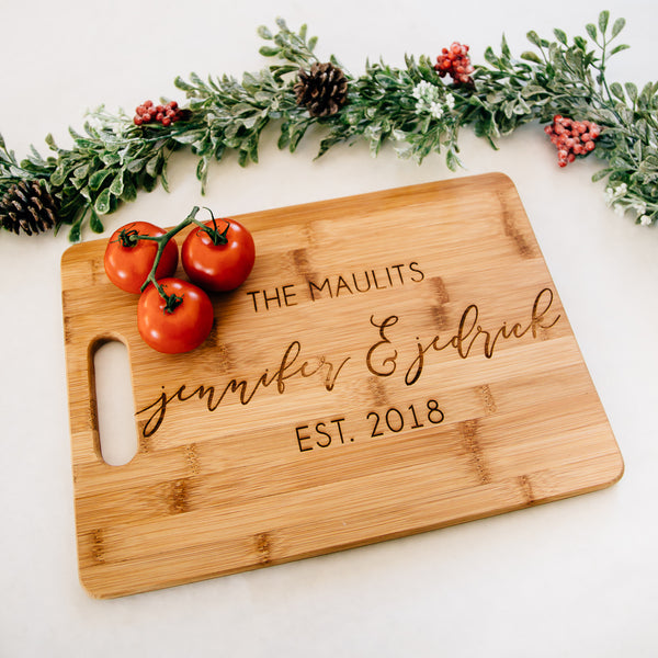 Simply Elegant Personalized Cutting Board, Bamboo