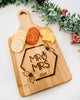 Mr & Mrs Holiday Cutting Board with Handle, Bamboo