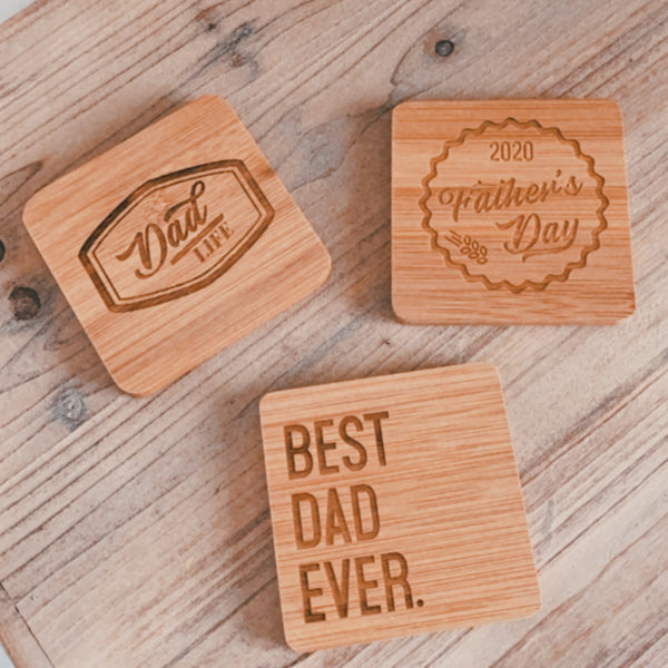 Father's Day Coasters - Set of 3