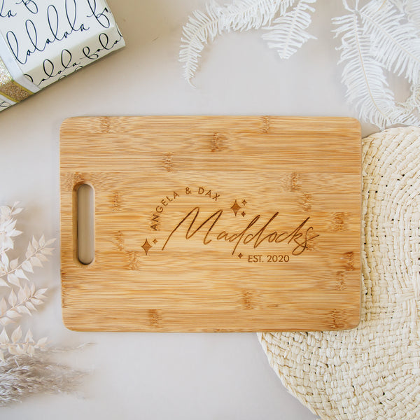 Shine Bright Custom Engraved Rectangle Bamboo Cutting Board