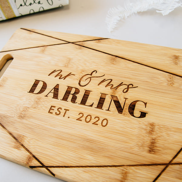 Shimmer Custom Engraved Rectangle Bamboo Cutting Board
