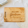 Personalized Script Last Name Rectangle Bamboo Cutting Board
