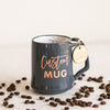 Custom Coffee Mug, Engraved Porcelain - Slate
