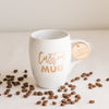 Custom Coffee Mug, Engraved White Porcelain