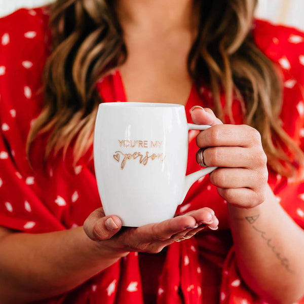 You're my Person Coffee Mug, Engraved White Porcelain