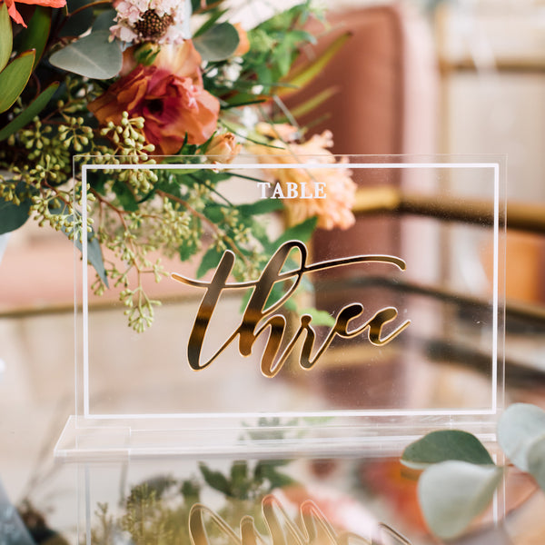 Acrylic Table Number, Horizontal