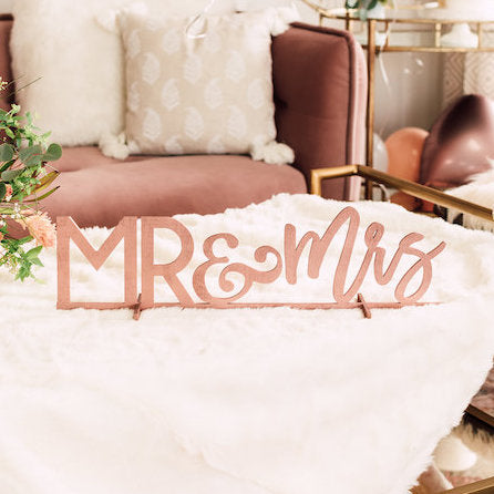 Mr & Mrs Sweetheart Table Sign, Wood