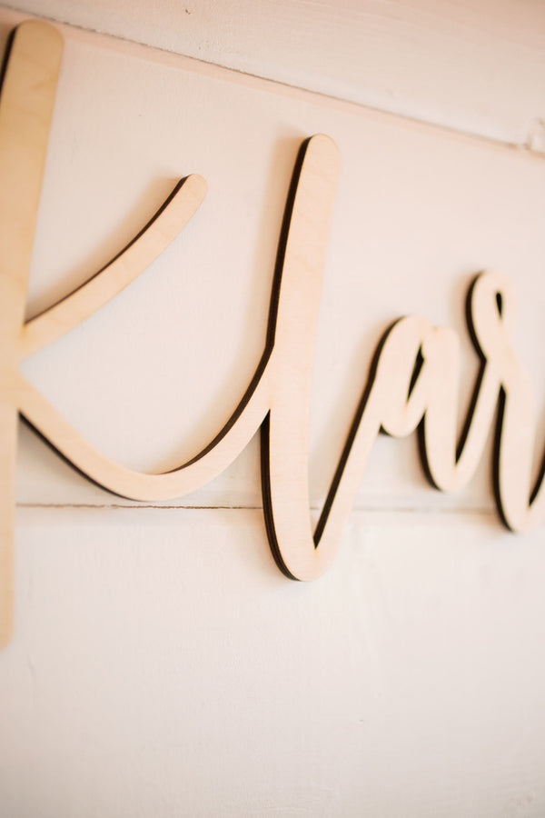 "24"" Custom Backdrop Name Sign, Wood"