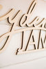 "30"" Custom First & Middle Backdrop Name Sign, Wood"