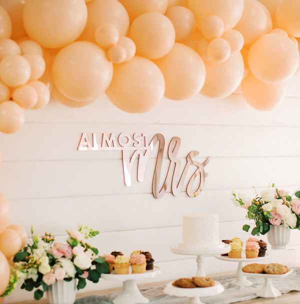 "28"" Trendy Almost Mrs. Backdrop Sign, Acrylic"