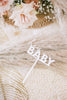 "5"" Hey Baby Cake Topper - Bold, Acrylic or Wood"