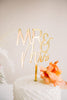 "5.5"" Mr & Mrs Wedding Cake Topper - Darling, Acrylic or Wood"