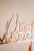 "7"" Custom Mr & Mrs Last Name Wedding Cake Topper, Acrylic - Darling Collection"