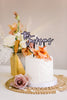 "7"" Newlywed Wedding Cake Topper, Double Layer Acrylic - Blissful Collection"