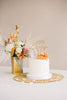 "6.5"" Custom ""The"" Last Name Wedding Cake Topper, Wood - Dreamer Collection"
